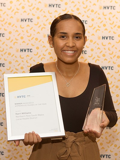 Karri Williams, HVTC Indigenous Trainee of the Year