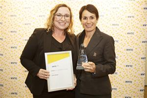 HVTC Commercial Manager Jeanette Howden and HVTC Employee of the Year Jackie Bower