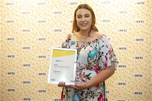 HVTC Woman in Non-Traditional Trade Apprentice Trainee of the Year Montana Dries