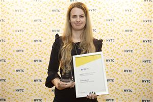 HVTC Trainee of the Year Encouragement Award winner Kaitlin Milsom